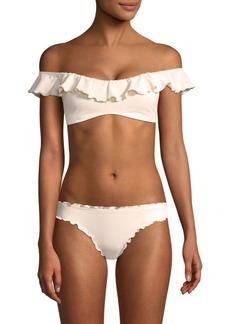 Eberjey Miranda So Solid Ruffled Bikini Top