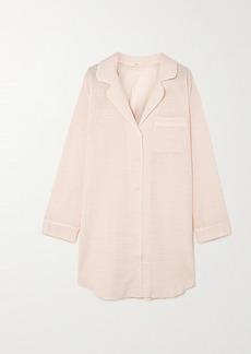 Eberjey Nautico Striped Cotton-blend Voile Pajama Shirt