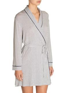 Eberjey Nordic Striped Tuxedo Robe