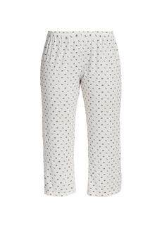 Eberjey Parasols Printed Capri Pajama Pants