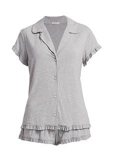 Eberjey Ruthie Ruffle Pajama Set