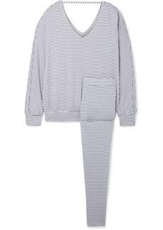 Eberjey Sadie Striped Stretch-modal Jersey Pajama Set