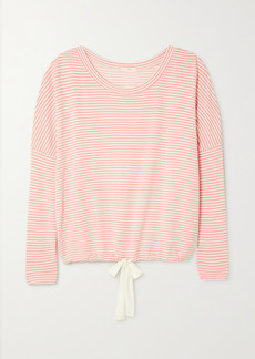 Eberjey Sadie Striped Stretch Modal-jersey Pajama Top
