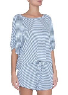 Eberjey Sadie Stripes Varsity Lounge Top