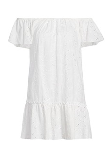 Eberjey Sardinia Beth Eyelet Cover-Up Dress