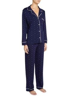 Eberjey Sleep Chic Two-Piece Print Pajama Set