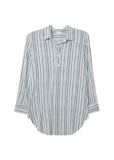 Eberjey Striped Button-Front Pajama Top