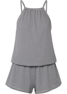 Eberjey Striped Pima Cotton-jersey Playsuit