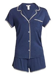 Eberjey Two-Piece Frida Whipstitch Pajama Set
