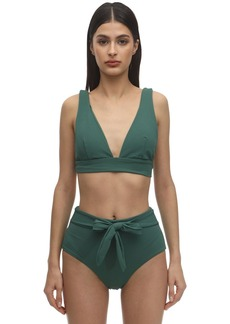 Eberjey Vivian Stretch Nylon Piqué Bikini Top