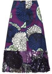 Marni Embellished printed cotton skirt