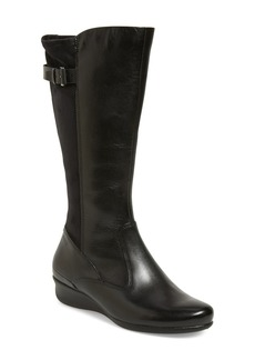 ECCO 'Abelone Tall' Stretch Back Wedge Boot (Women)