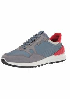 ECCO Men's ASTIR Athletic Sneaker TITANIUM/MIRAGE/CONCRETE/SCARLET 9 US medium