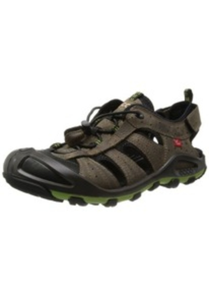 cerro men Men's ecco, cerro sandal a sporty adventure sandal style with a yak leather upper bungie cord lacing system for an adjustable fit adjustable hook and loop closure ankle strap.