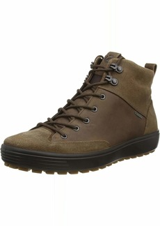 ECCO Men's Soft 7 TRED High Top Gore-TEX Sneaker Cocoa Brown Suede/Cocoa Brown Nubuck 42 M EU ( US)