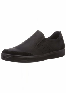 ECCO Men's Soft Classic Slip On Sneaker Black/Black 9 M US
