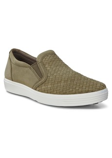 ECCO Soft 7 Plaited Slip-On Sneaker (Men)