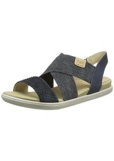 ECCO Women's Damara 2-Strap Flat Sandal black  42 EU/ M US