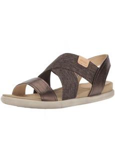 ECCO Women's Damara 2-Strap Flat Sandal brown  39 EU/ M US