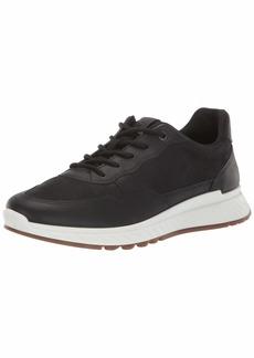 ECCO Women's St1 Sneaker Black Nubuck 38 M EU ( US)