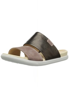 ECCO Women's Women's Damara Slide II Sandal Licorice/deep Taupe 38 M EU ( US)