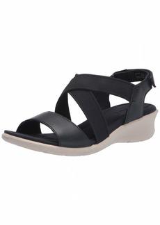 ECCO Women's Finola Ankle Strap Wedge Sandal