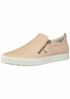 ECCO Women's Women's Gillian Side Zip Sneaker Rose dust 42 M EU ( US)