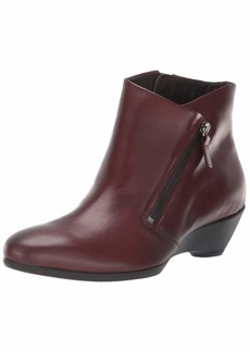 ECCO Women's Women's Sculptured 45 Wedge Zip Ankle Boot  40 M EU ( US)