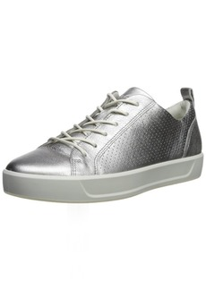 ECCO Women's Women's Soft 8 Perforated Tie Sneaker alusilver 41 M EU ( US)