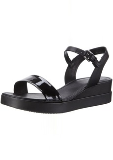 ECCO Women's Women's Touch Plateau Wedge Sandal Black 40 EU/ M US