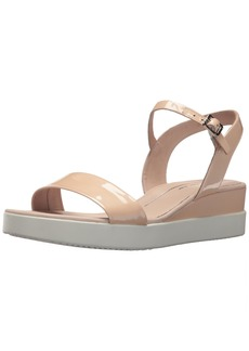 ECCO Women's Women's Touch Plateau Wedge Sandal Rose dust Patent 40 M EU ( US)