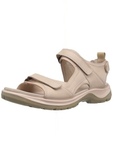 ECCO Women's Yucatan outdoor offroad hiking sandal rose dust/powder  M US