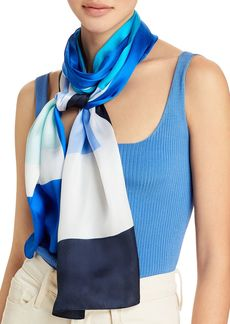 Echo Colorfield Oblong Silk Scarf