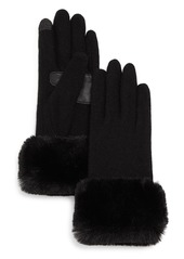 Echo Faux-Fur Cuff Tech Gloves - 100% Exclusive