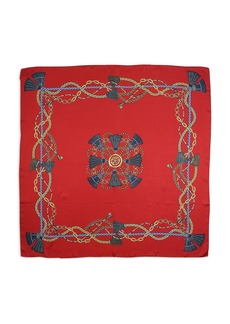 Echo Legacy Silk Tassel Print Square Scarf