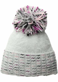 Echo Women's Confetti Space Dye Hat with Pom Silver