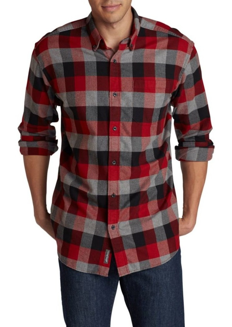 Eddie Bauer Eddies Favorite Cotton Casual Button-Down Shirt