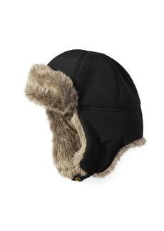 Eddie Bauer Faux Fur-Trimmed Down Aviator Hat