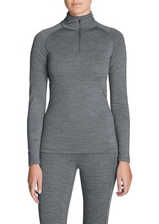 Eddie Bauer First Ascent Women's Heavyweight Long Sleeve 1/4 Zip Up Baselayer