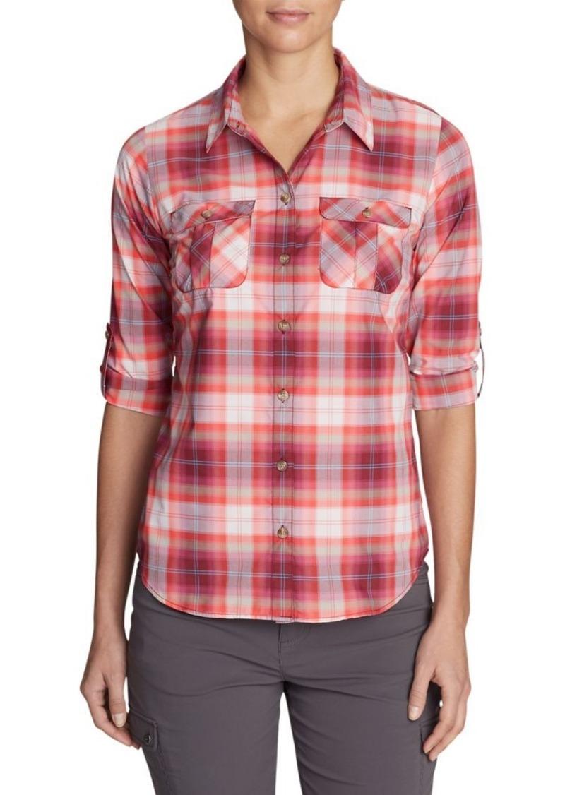 Eddie Bauer Mountain Textured Plaid Shirt