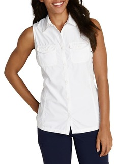 Eddie Bauer Sleeveless Button-Front Top