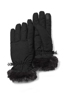 Eddie Bauer Sun Valley Faux-Fur Trimmed Gloves
