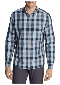 Eddie Bauer Travex Men's On the Go Long Sleeve Poplin Shirt