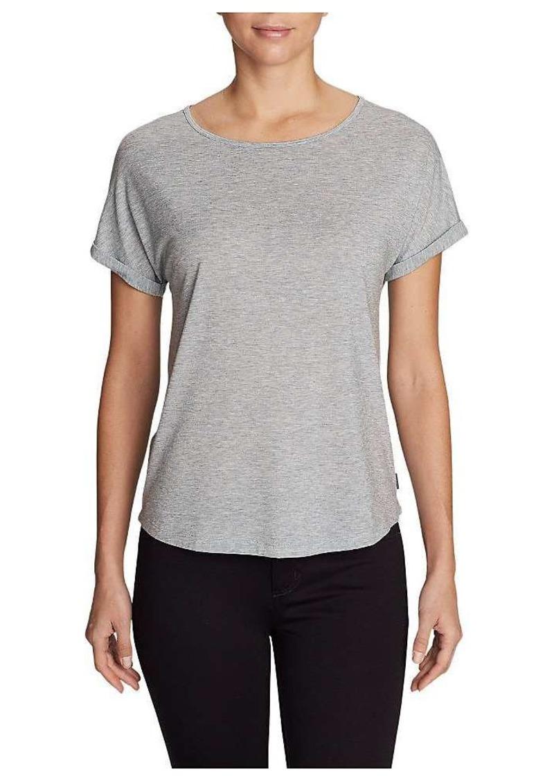 Eddie Bauer Travex Women's Mercer Bateau Roll Sleeve Shirt