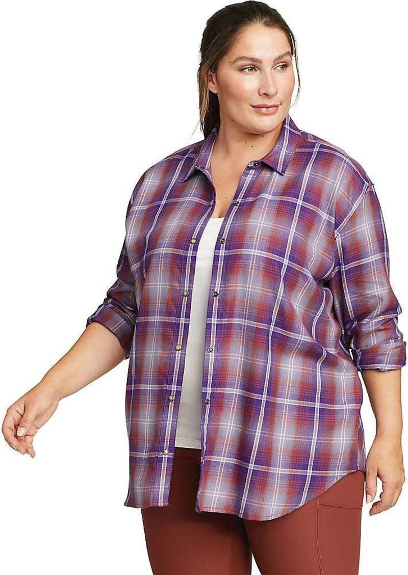 Eddie Bauer Women's Fremont Flannel Snap Front Tunic LS Shirt