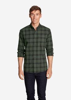 Eddie Bauer Men's Classic Signature Twill Long-Sleeve Shirt - Pattern
