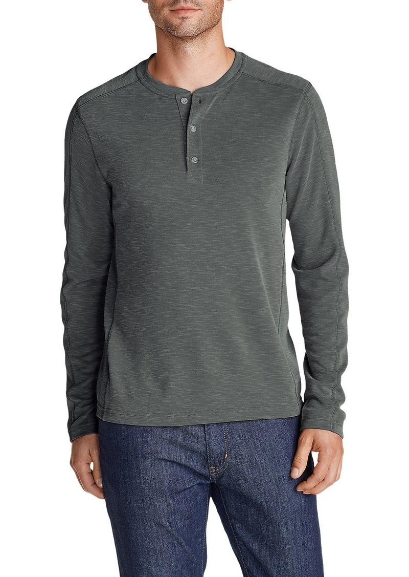 Eddie Bauer Men's Contour Long-Sleeve Henley Shirt