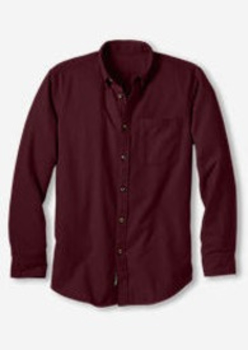 Eddie Bauer Men's Eddie's Favorite Flannel Relaxed Fit Shirt - Solid