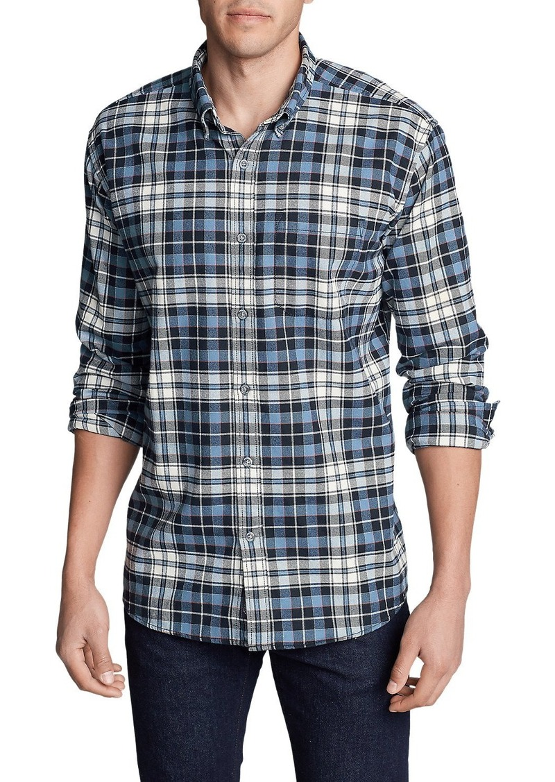 Eddie bauer men 39 s eddie 39 s favorite flannel slim fit shirt for Women s slim fit flannel shirt