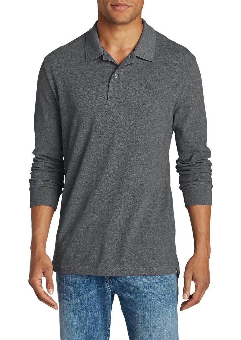 e124bff3e Eddie Bauer Men s Field Long-Sleeve Polo Shirt